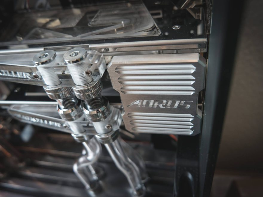 AORUS CNC CUSTOM SLI BRIDGE COVER