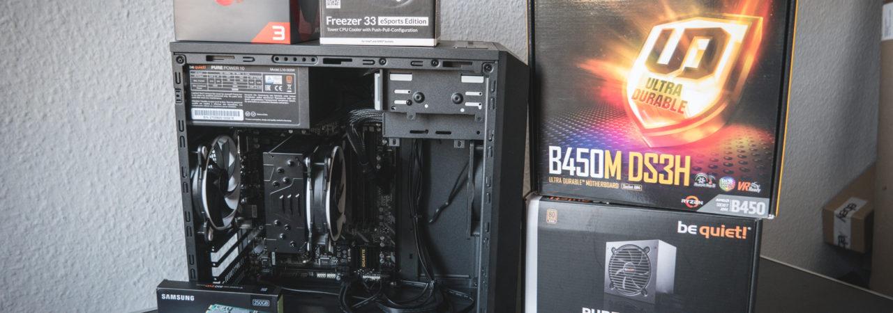 AMD RYZEN 3 2200G GIGABYTE B450M DS3H REVIEW