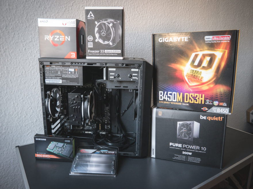 AMD RYZEN 3 2200G GIGABYTE B450M DS3H REVIEW