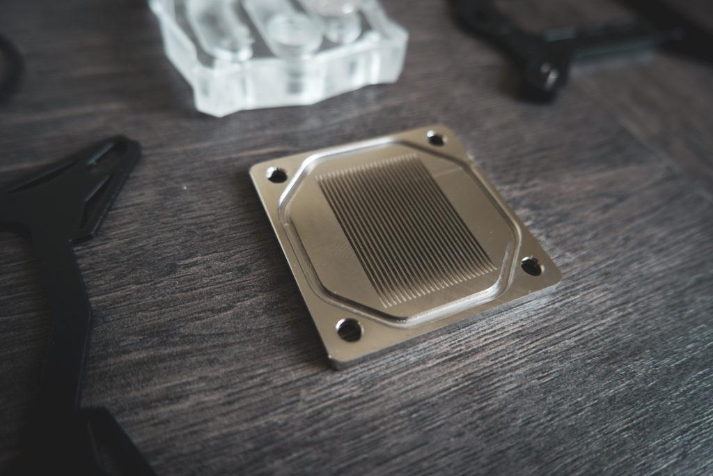 Bodenplatte eines low budget CPU Wasserkühlers